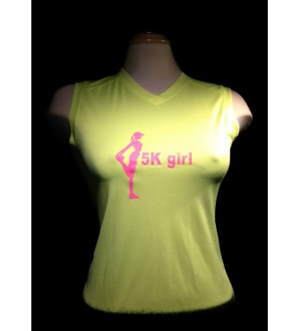 5k Girl  v-neck running shirt