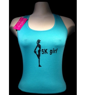 5k Girl Sheer Rib Racerback Tank top