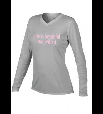 Life is Beautiful Run with it Long Sleeve Shirts