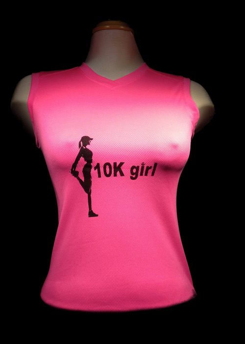 10k Girl  v-neck running shirt