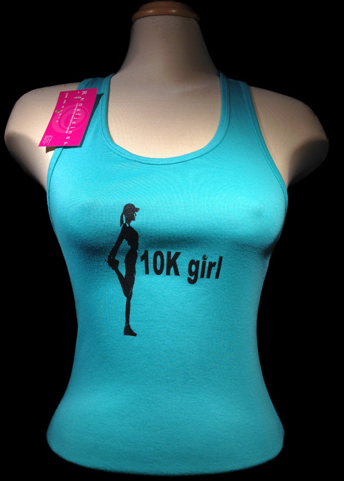 10k Girl Sheer Rib Racerback Tank top