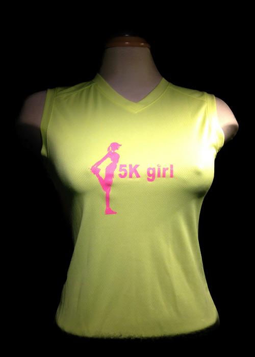 5k Girl  v-neck running shirt