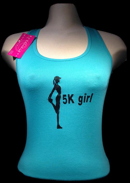 5k Girl Sheer Rib Racerback Tank top