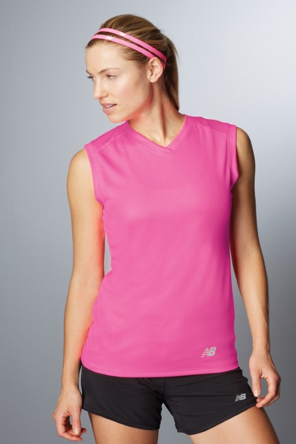 Custom Printed v-neck running shirt