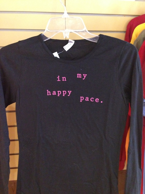 In my Happy Pace long sleeve